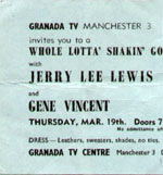 19 March 1964 ticket - courtesy of John Braley