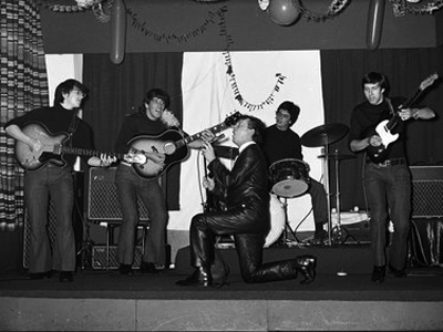 Gene Vincent on stage afternoon show Christmas Day