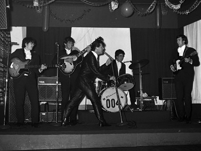 Gene Vincent on stage evening show Christmas Day