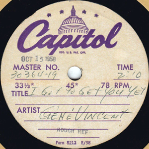 Scan of disk label