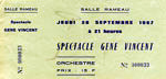 September 1967 ticket courtesy of Pierre Pennone